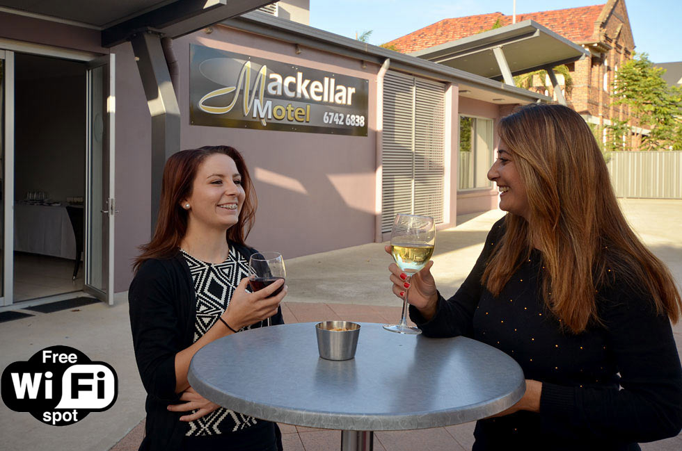 Drinks at the Mackellar Motel